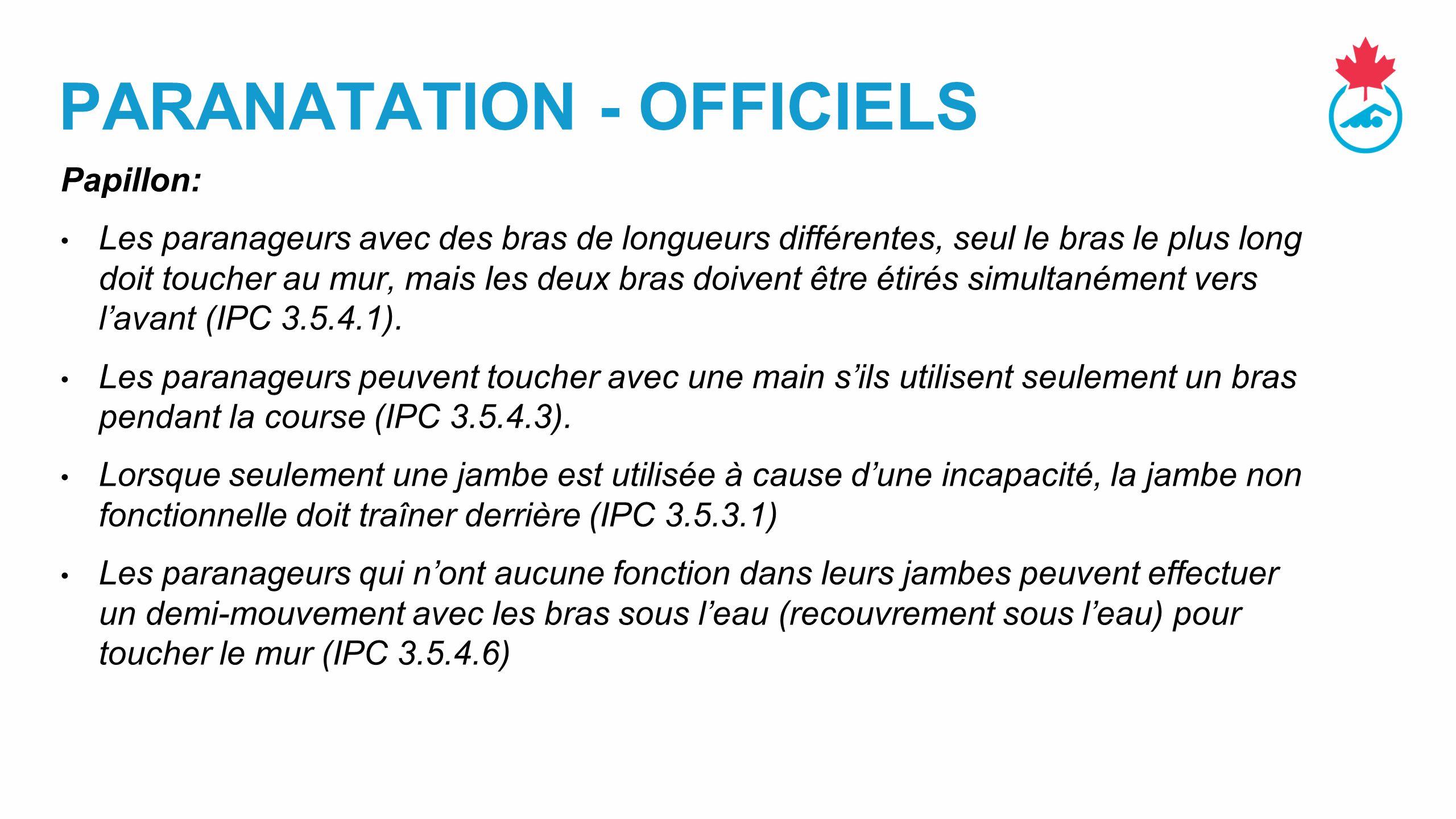 PARANATATION - OFFICIELS