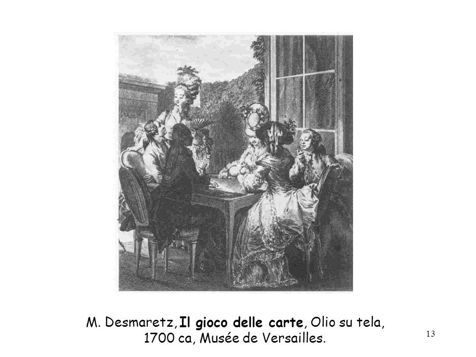 M. Desmaretz, Il gioco delle carte, Olio su tela,