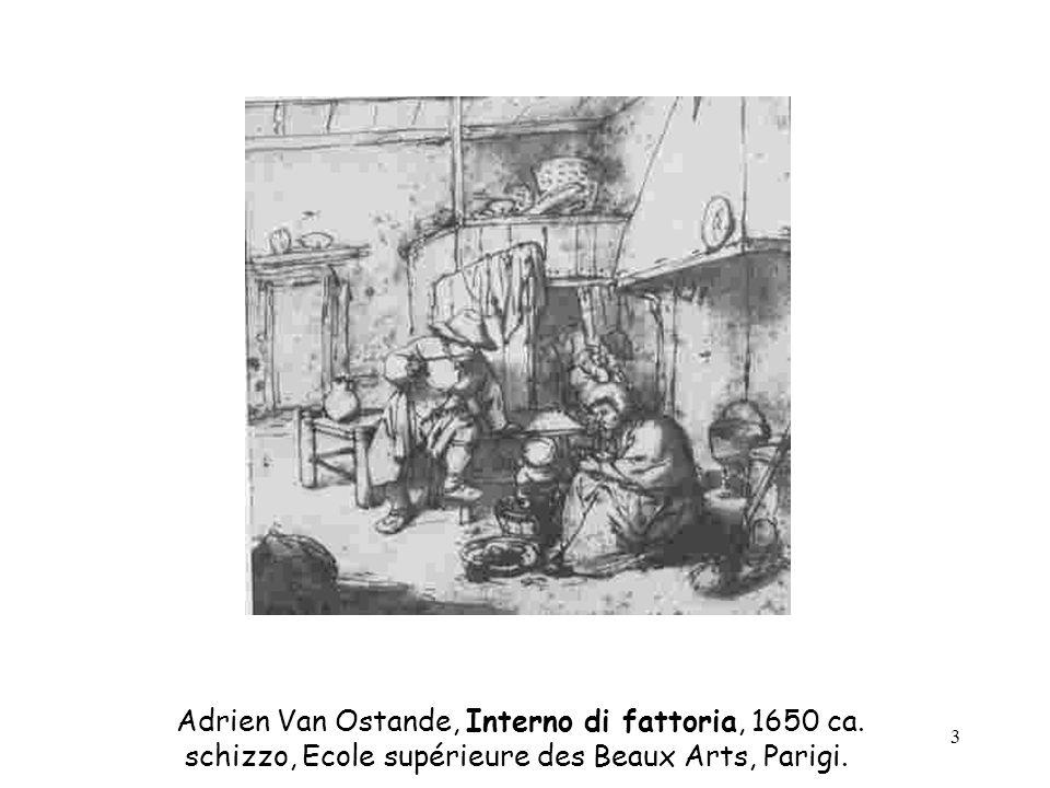 Adrien Van Ostande, Interno di fattoria, 1650 ca.