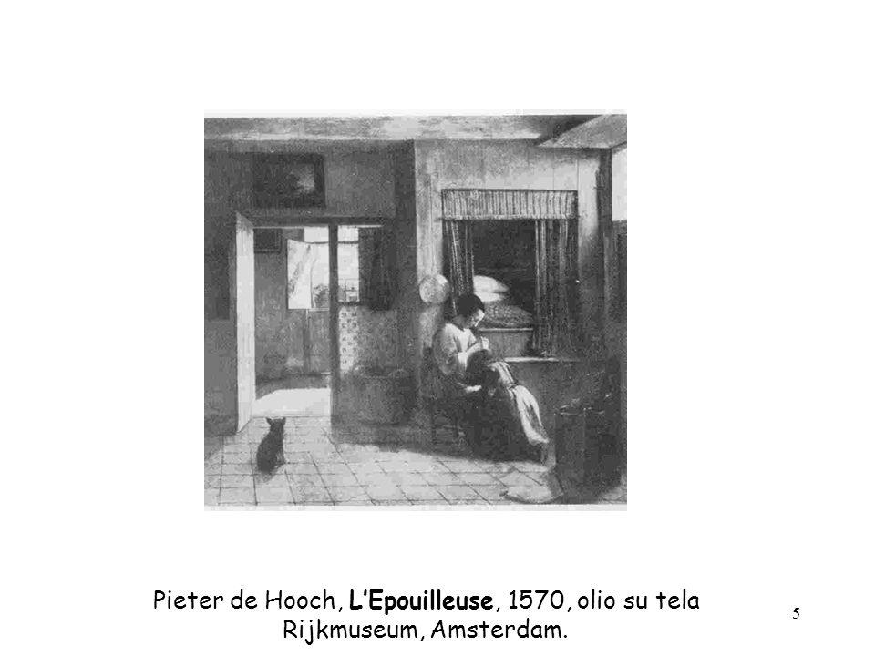 Pieter de Hooch, L'Epouilleuse, 1570, olio su tela