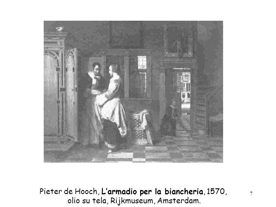Pieter de Hooch, L'armadio per la biancheria, 1570,
