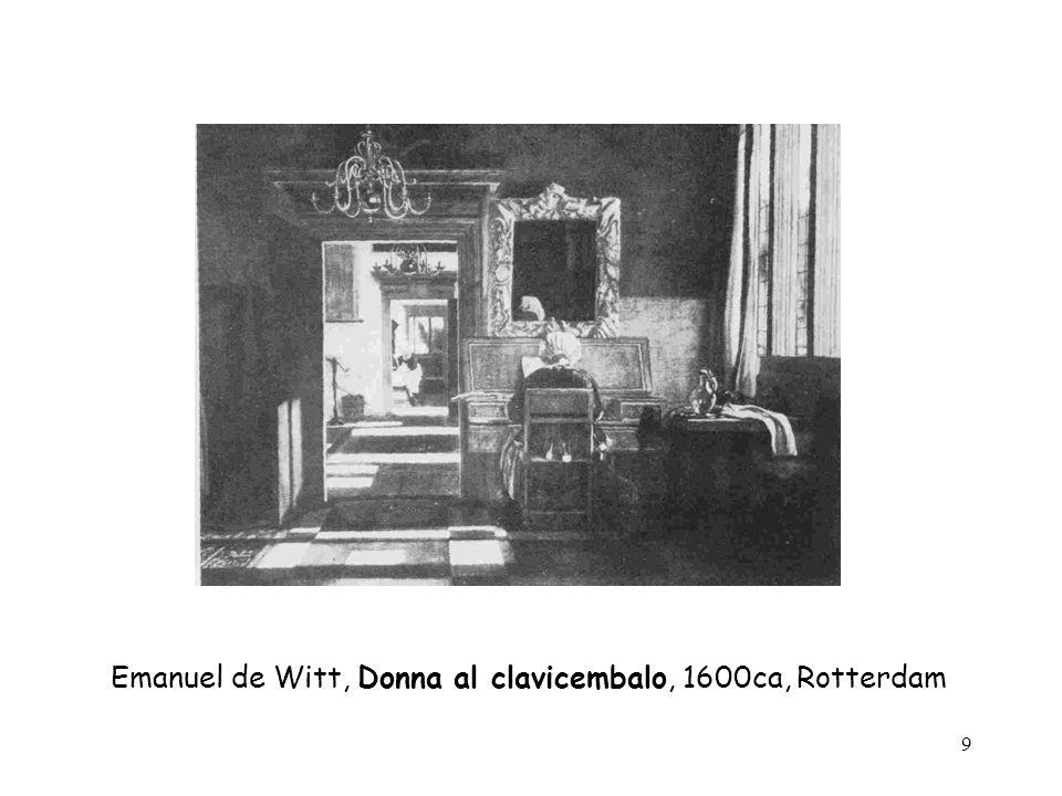 Emanuel de Witt, Donna al clavicembalo, 1600ca, Rotterdam