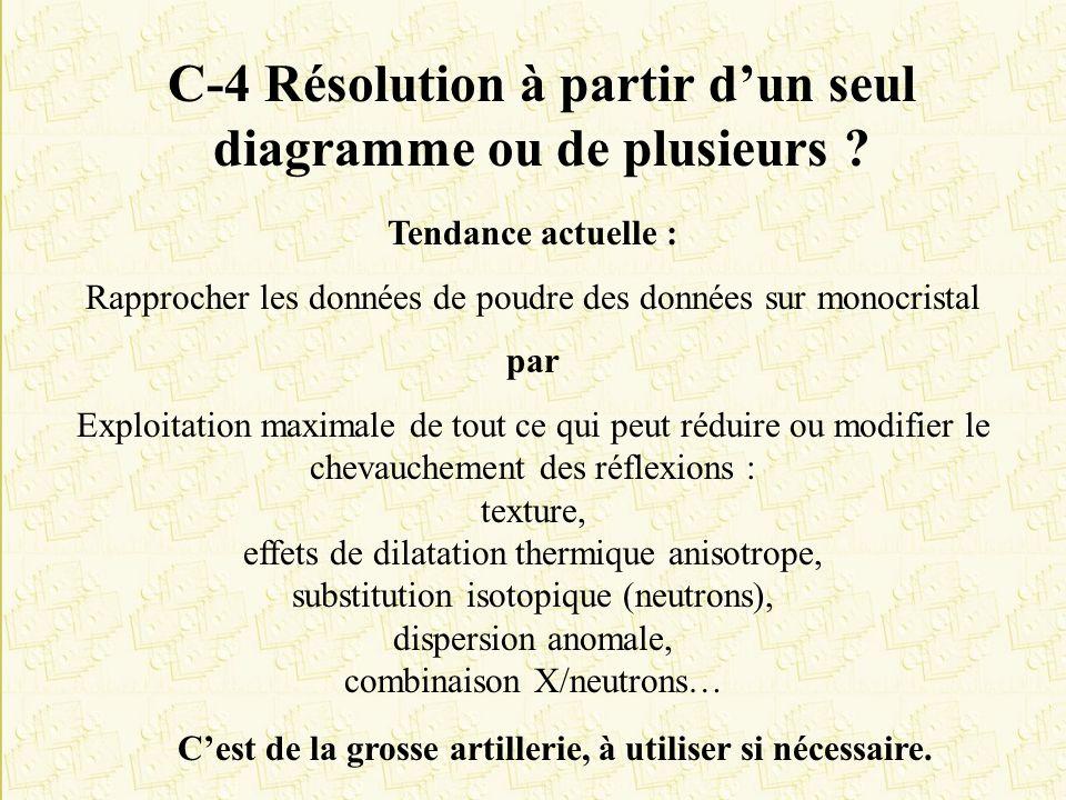 C-4 Résolution à partir d'un seul diagramme ou de plusieurs