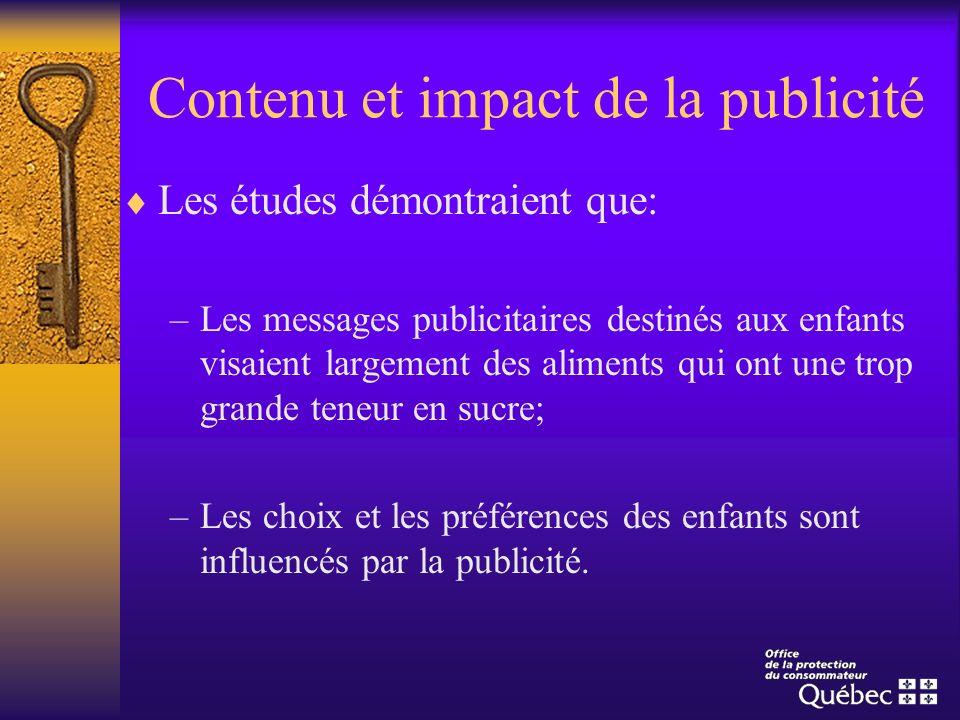 Contenu et impact de la publicité