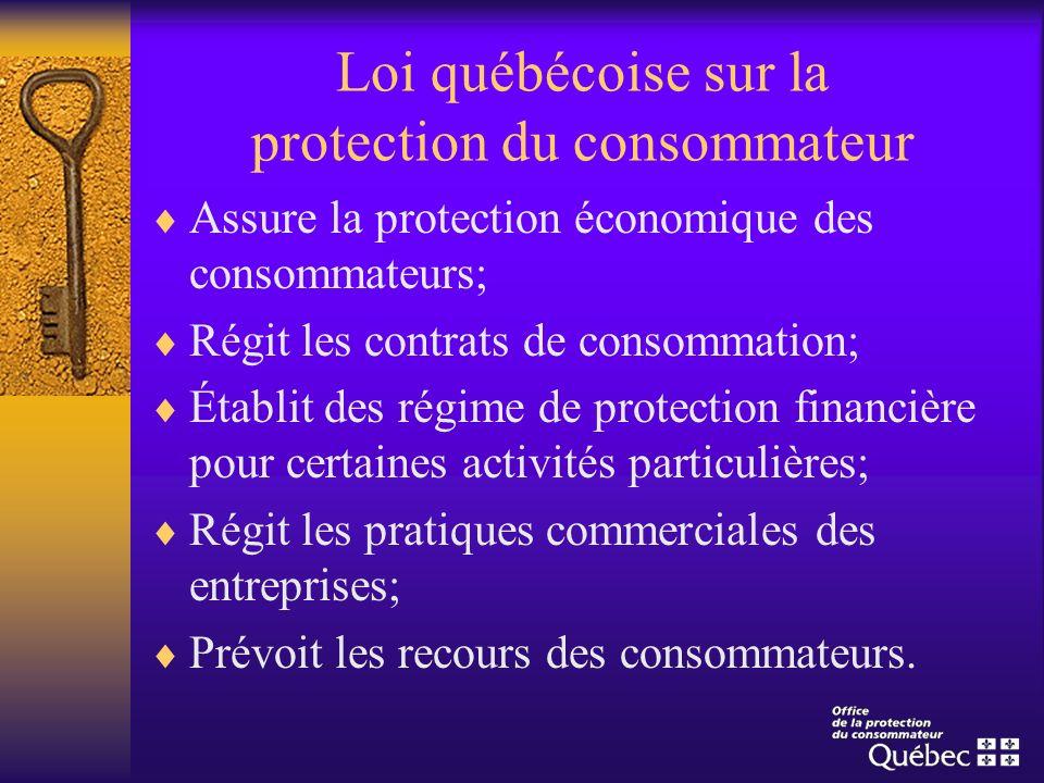 Loi québécoise sur la protection du consommateur