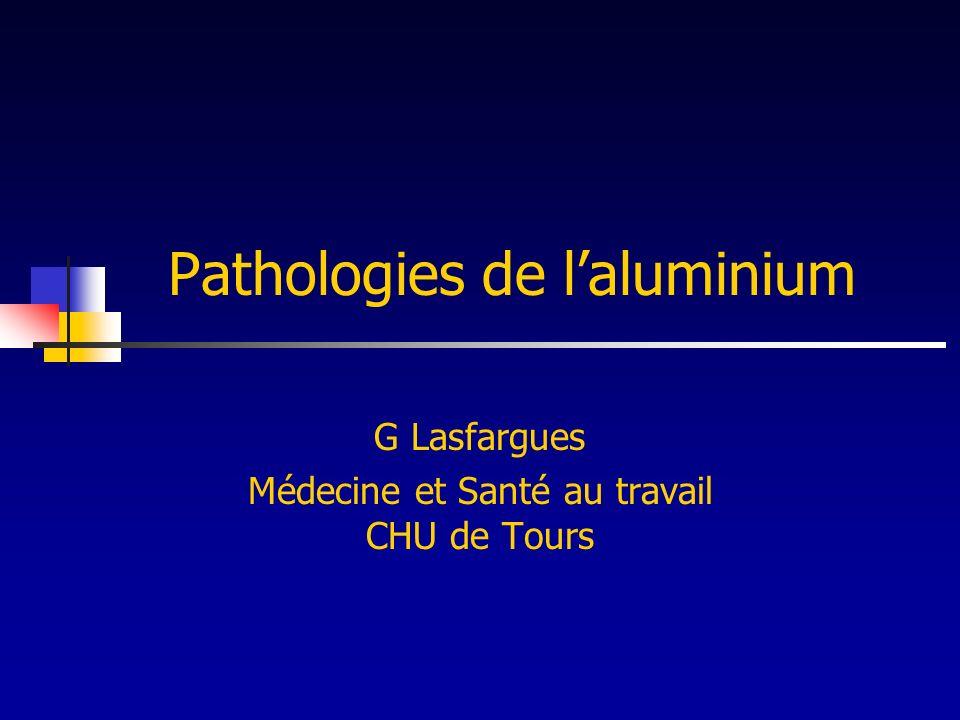 Pathologies de l'aluminium