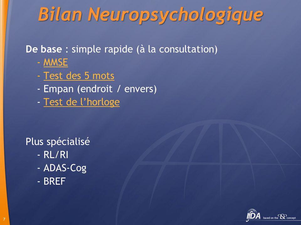 Bilan Neuropsychologique