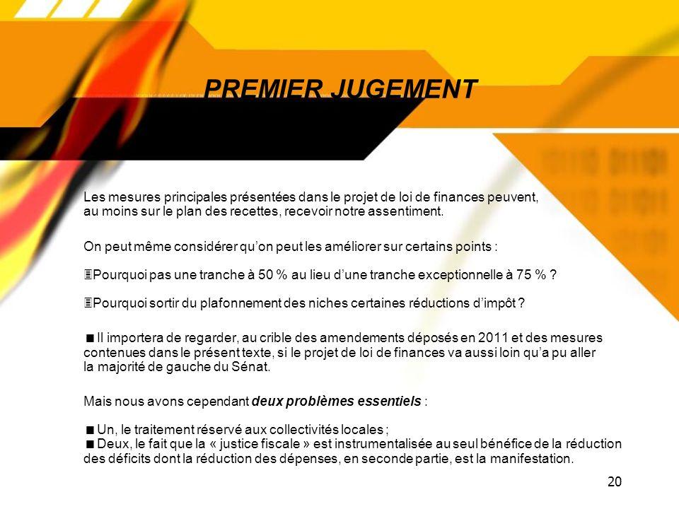 PREMIER JUGEMENT
