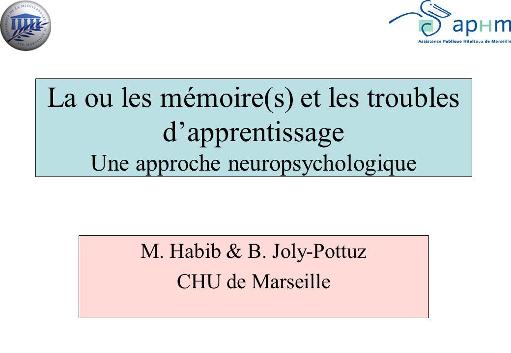M. Habib & B. Joly-Pottuz CHU de Marseille