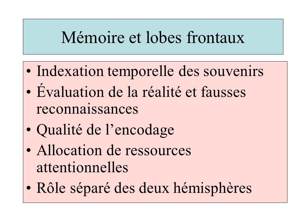 Mémoire et lobes frontaux
