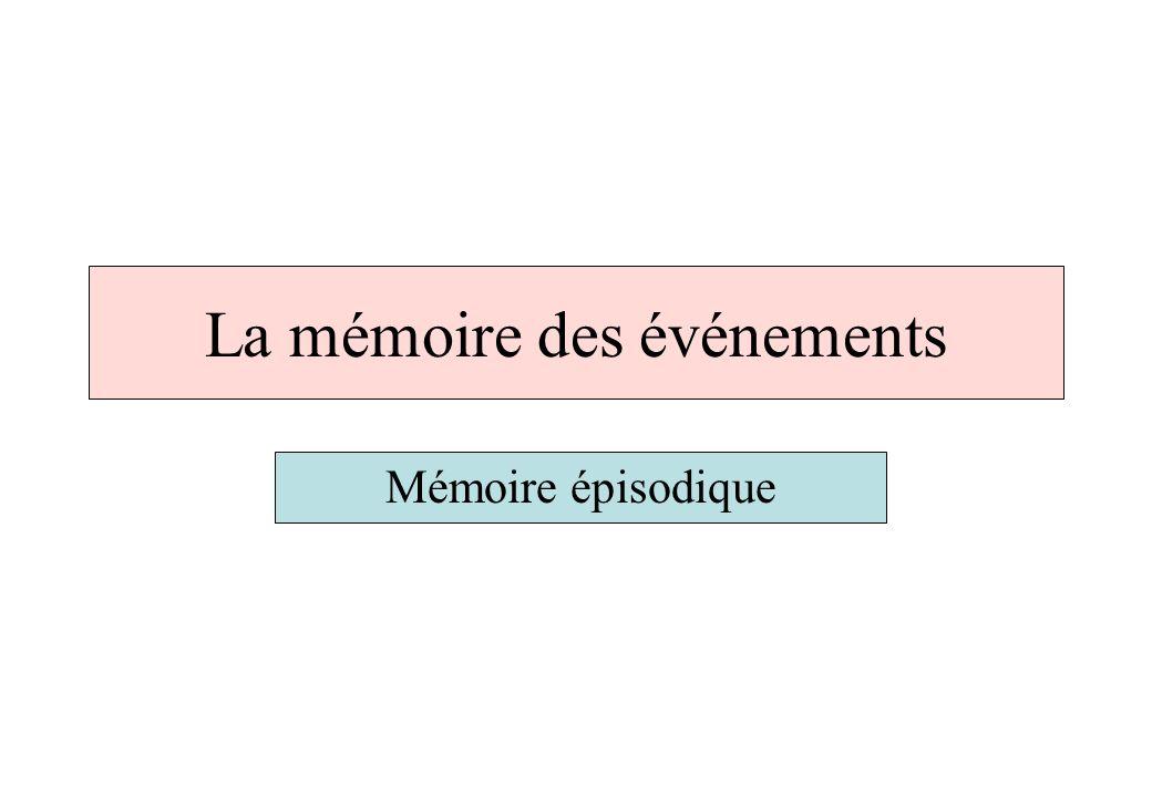 La mémoire des événements