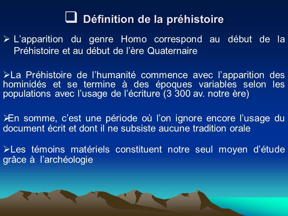 Définition de la préhistoire