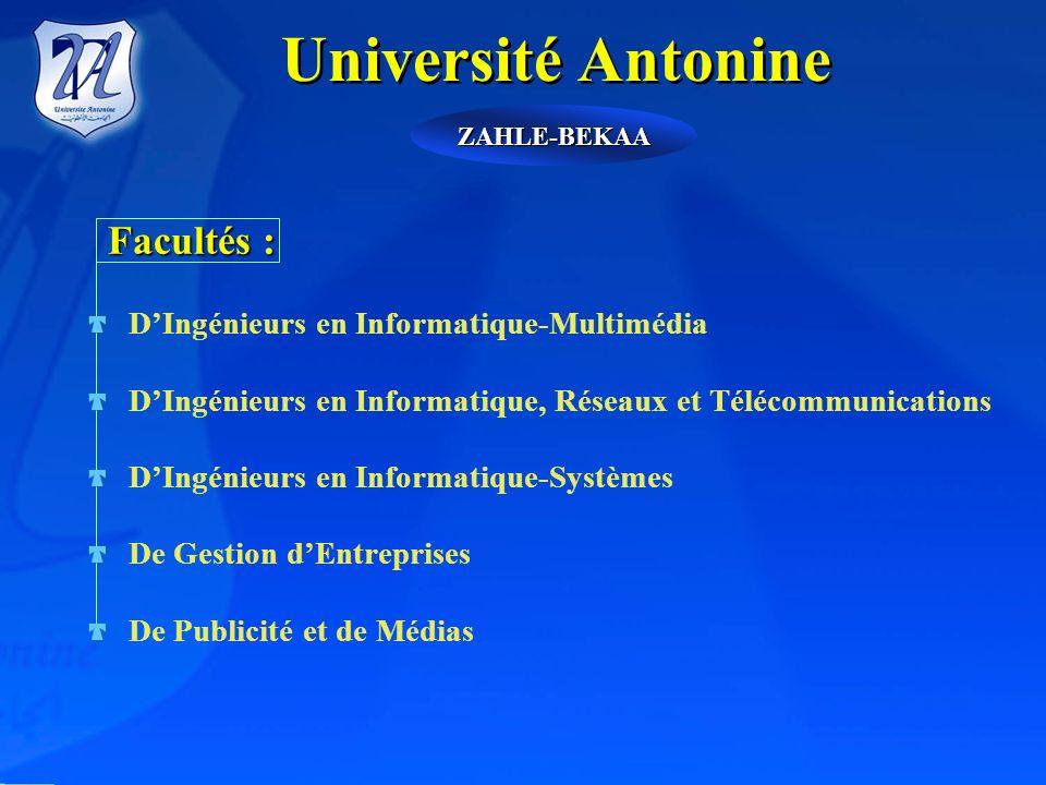 Université Antonine Facultés : D'Ingénieurs en Informatique-Multimédia
