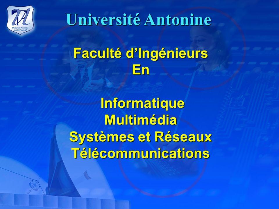 Université Antonine Faculté d'Ingénieurs En Informatique Multimédia