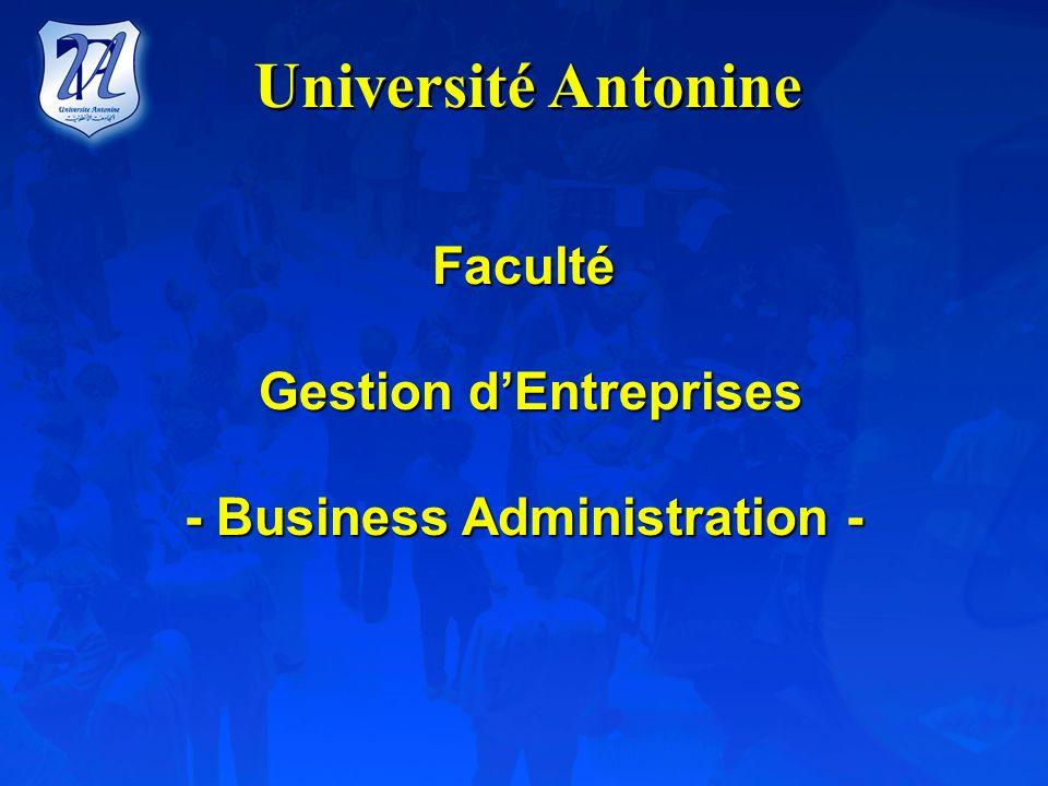 Gestion d'Entreprises - Business Administration -