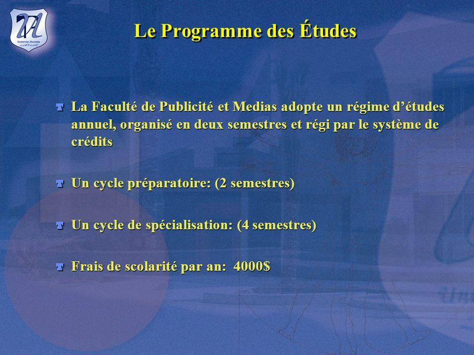 Le Programme des Études