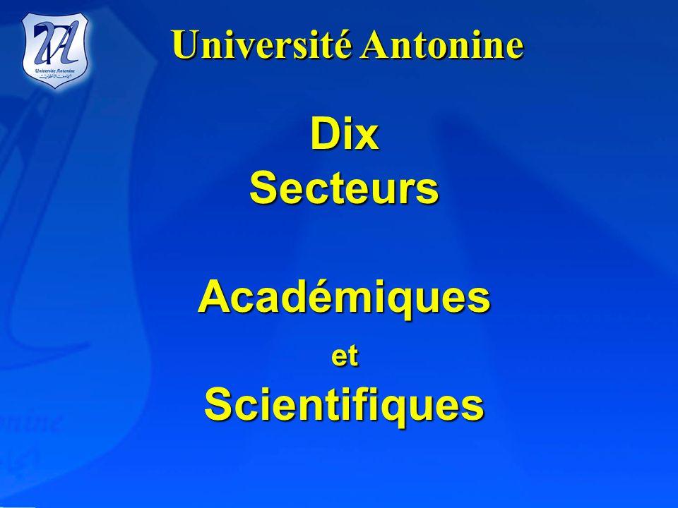 Dix Secteurs Académiques Scientifiques