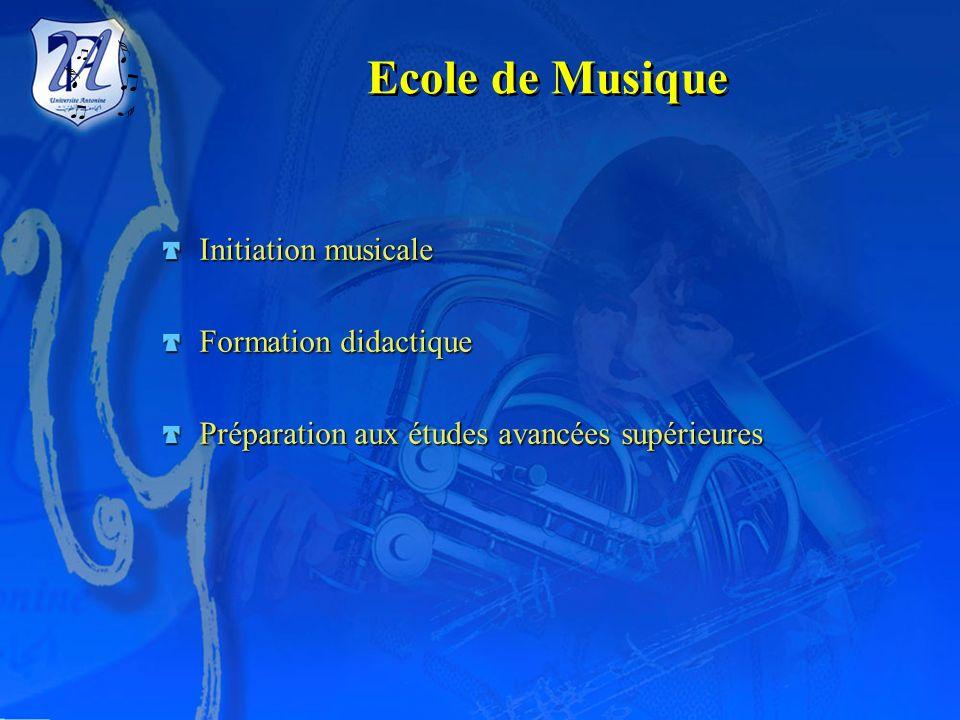 Ecole de Musique Initiation musicale Formation didactique