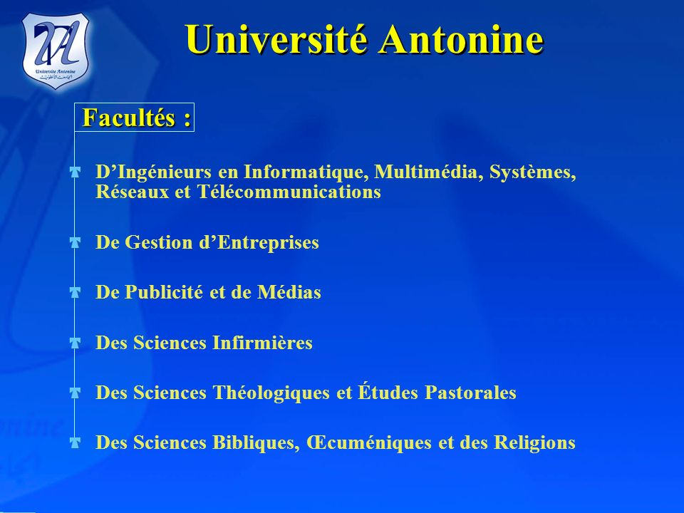 Université Antonine Facultés :