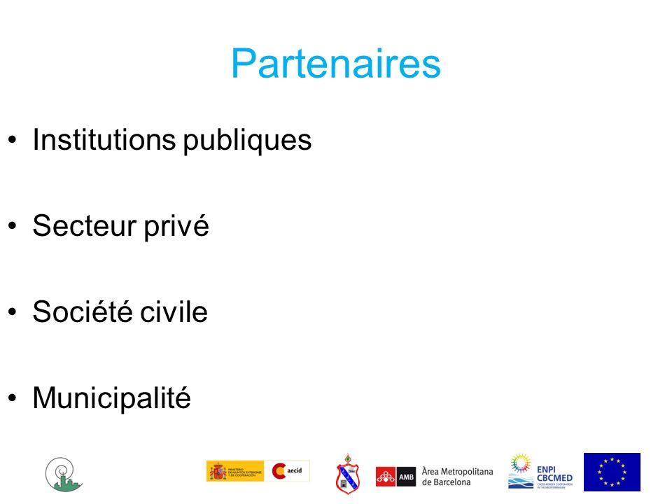 Partenaires Institutions publiques Secteur privé Société civile