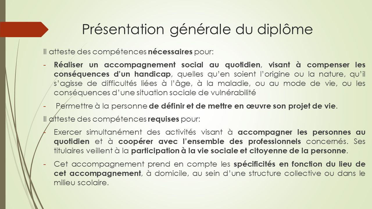 Accompagnant educatif et social ppt t l charger for Diplome restauration collective