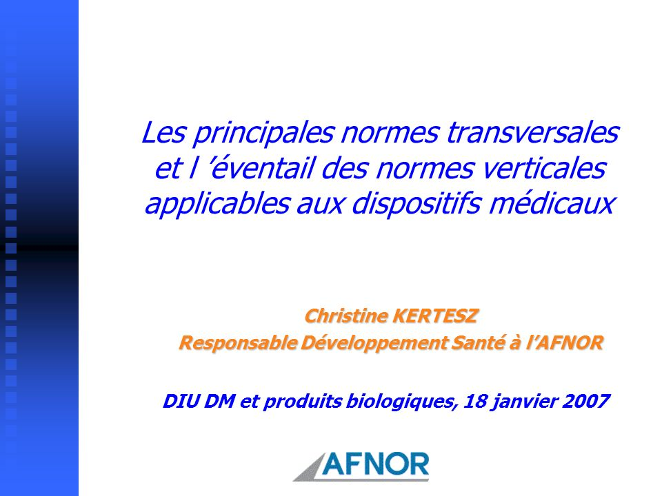 Responsable Développement Santé à l'AFNOR