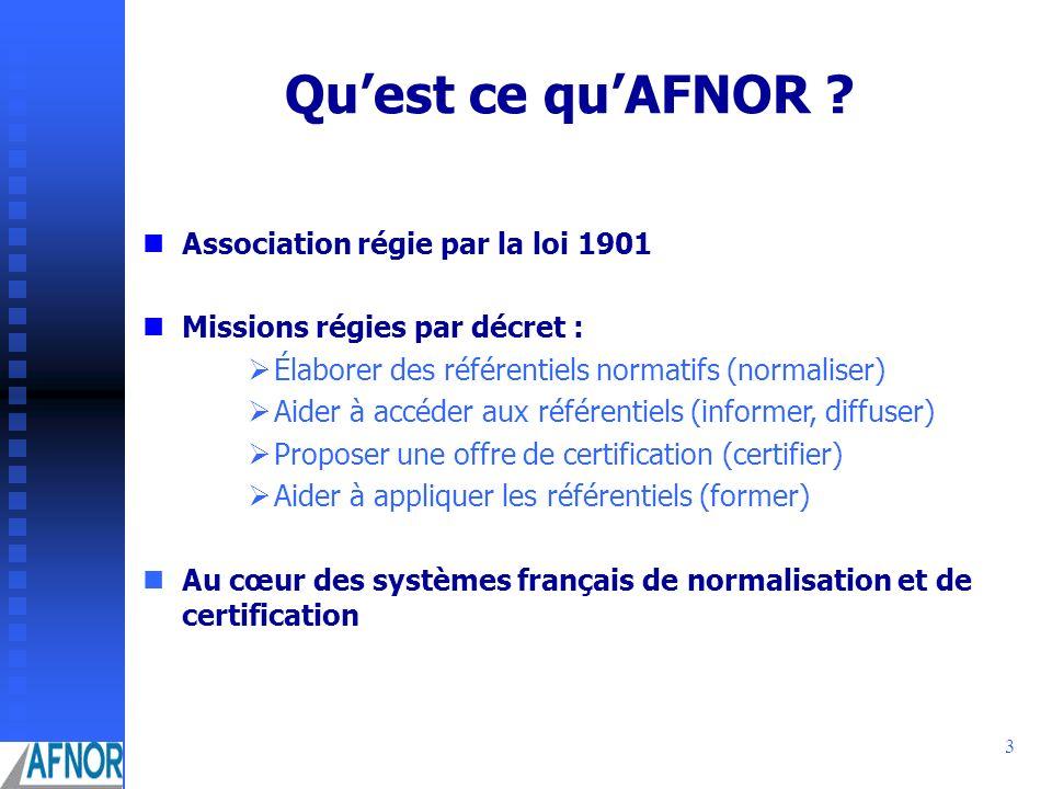 Qu'est ce qu'AFNOR Association régie par la loi 1901