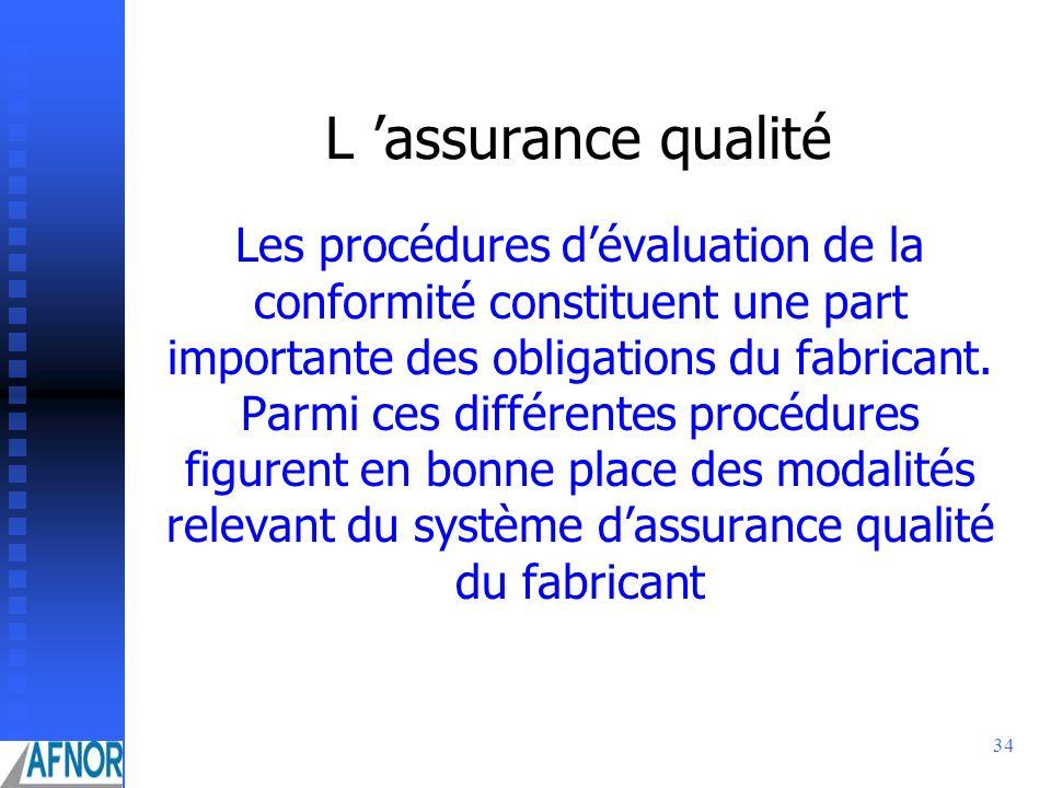 L 'assurance qualité