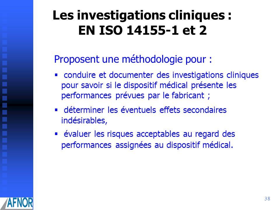 Les investigations cliniques : EN ISO 14155-1 et 2