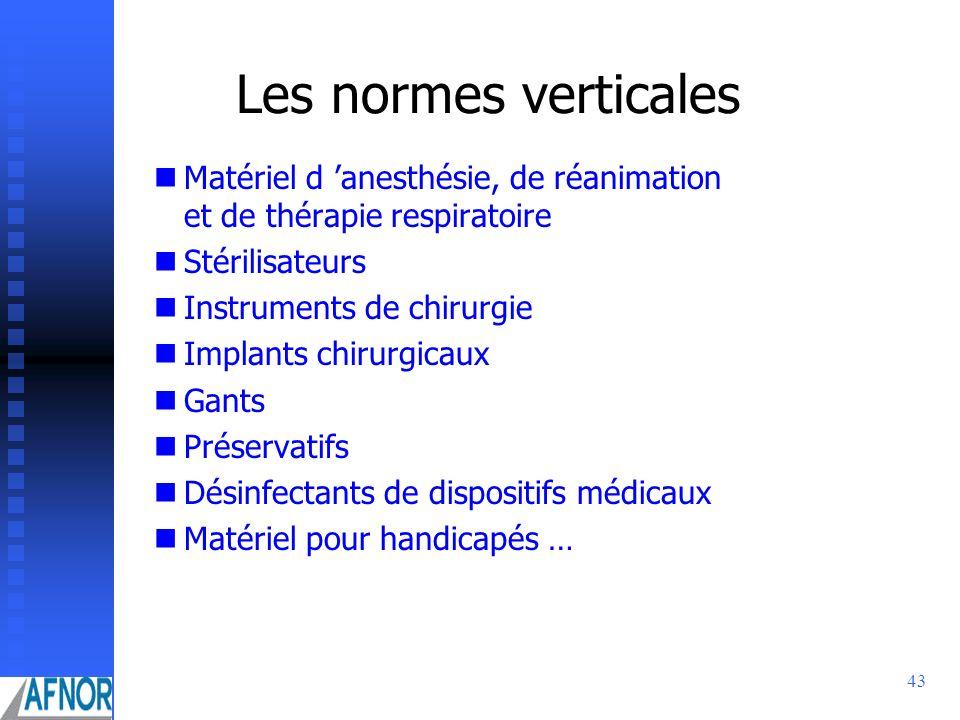 Les normes verticales Matériel d 'anesthésie, de réanimation et de thérapie respiratoire. Stérilisateurs.