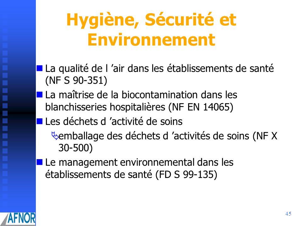 Hygiène, Sécurité et Environnement
