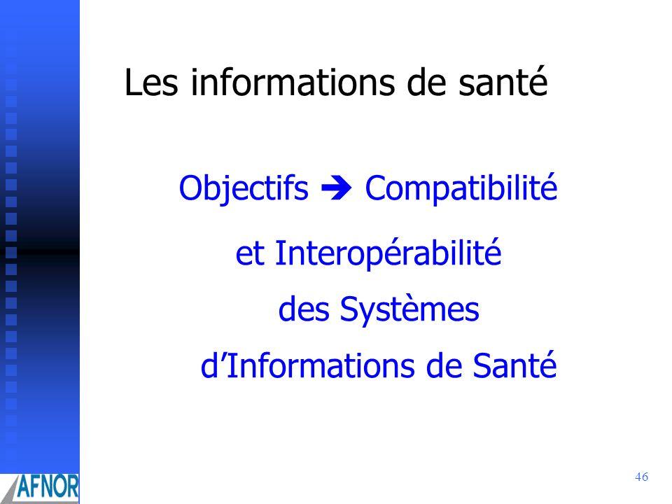 Les informations de santé
