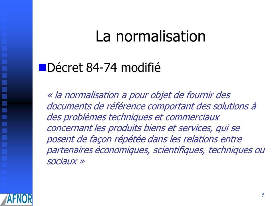La normalisation