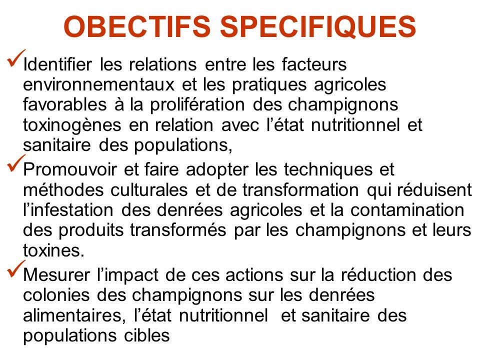 OBECTIFS SPECIFIQUES