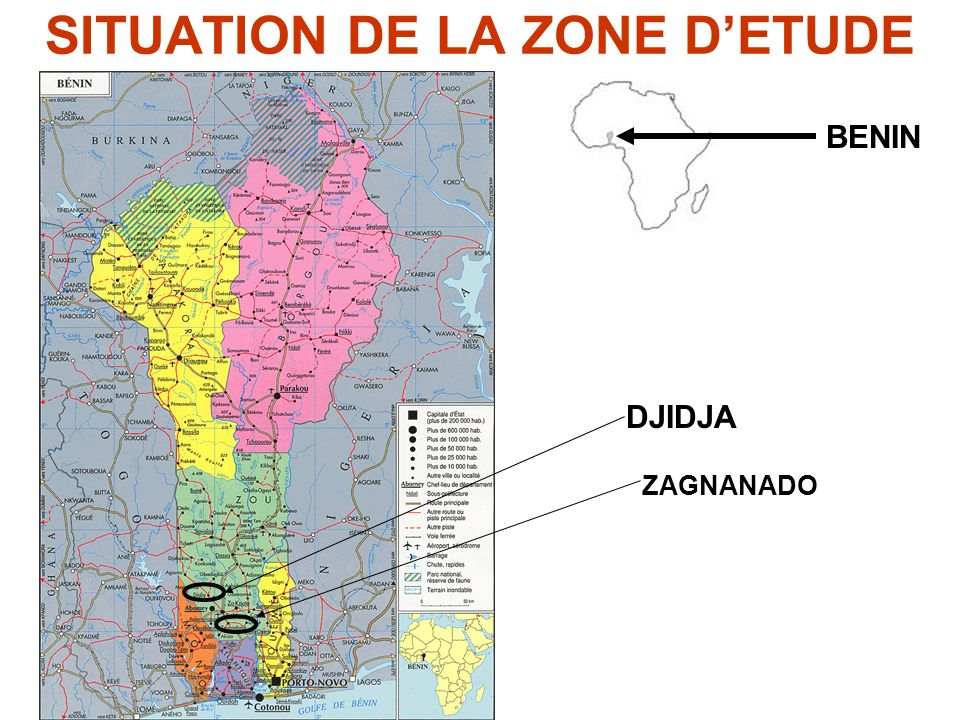 SITUATION DE LA ZONE D'ETUDE