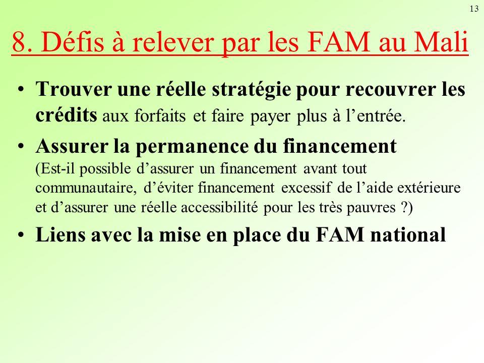 8. Défis à relever par les FAM au Mali