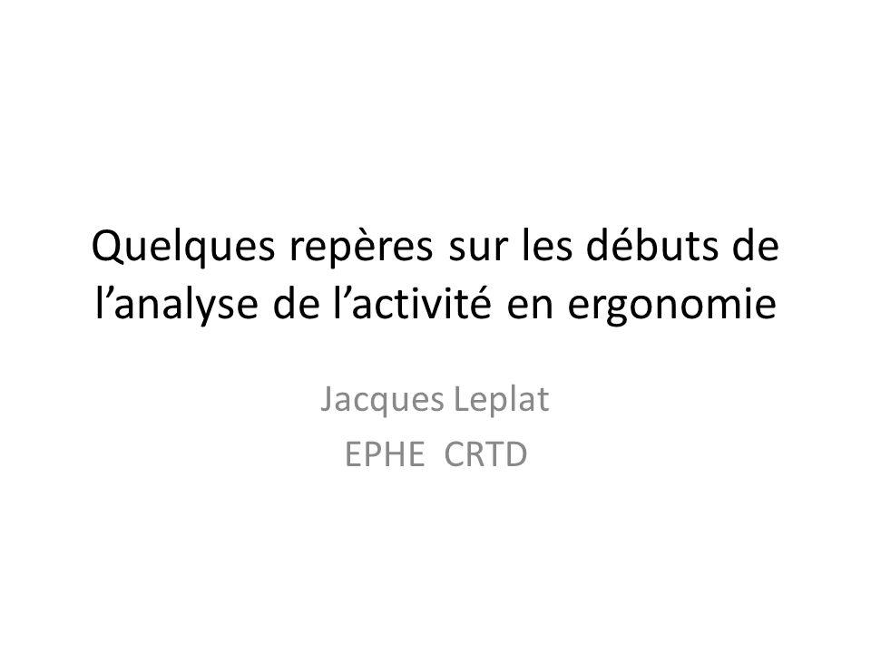 Jacques Leplat EPHE CRTD