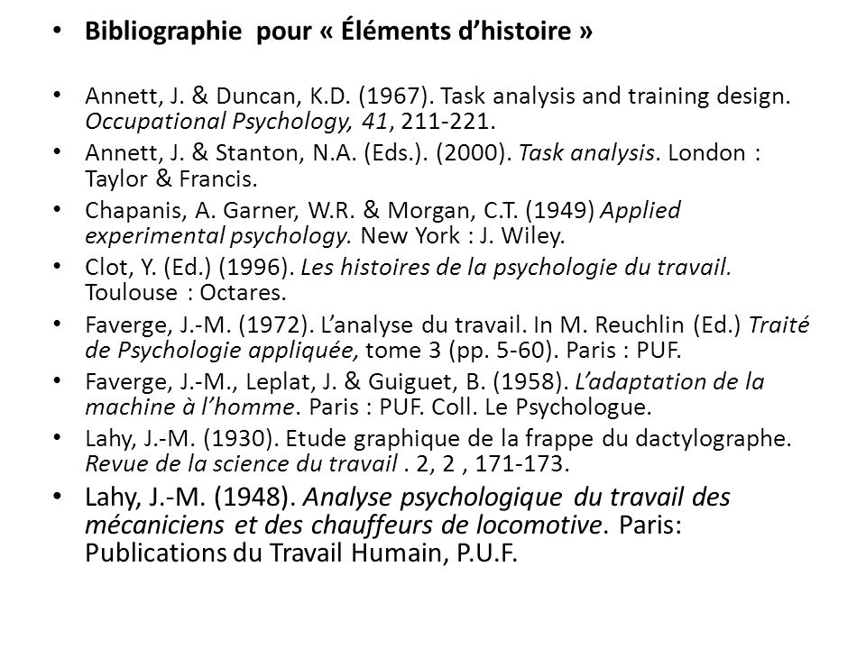 Bibliographie pour « Éléments d'histoire »