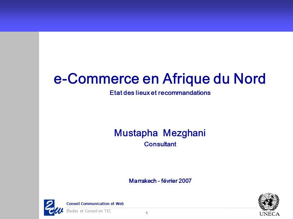e-Commerce en Afrique du Nord Etat des lieux et recommandations