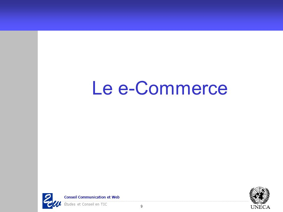 Le e-Commerce UNECA
