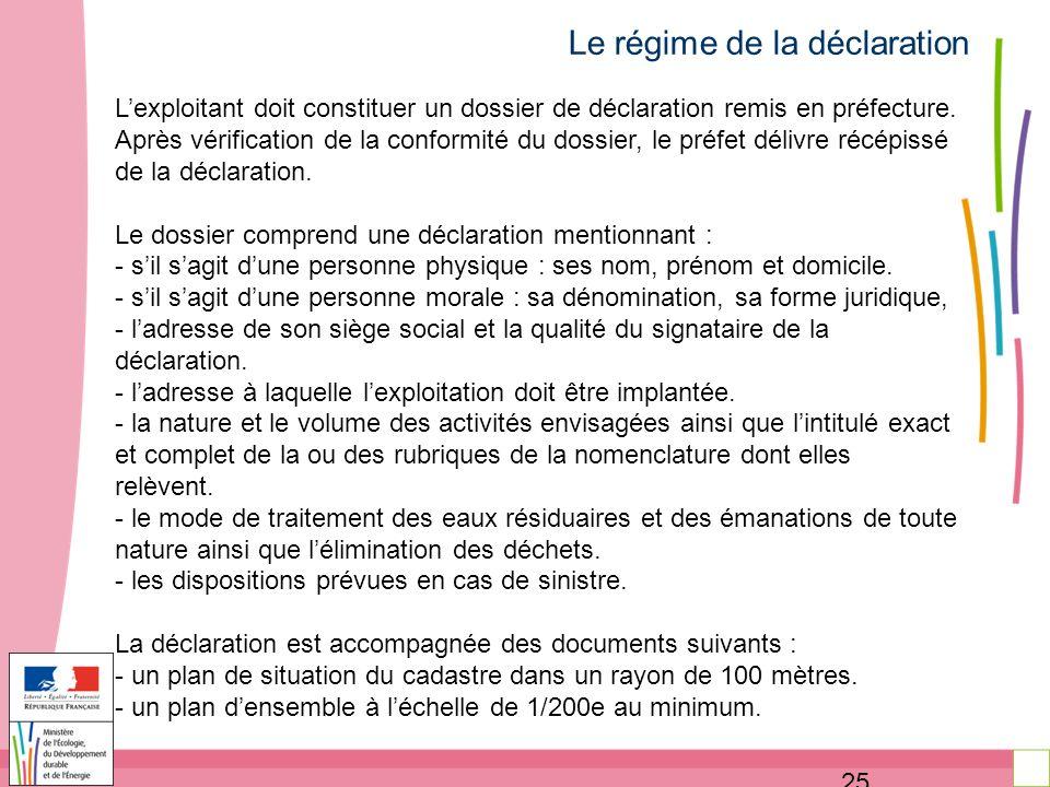 La r glementation des installations class es pour la - Declaration bureau association prefecture ...