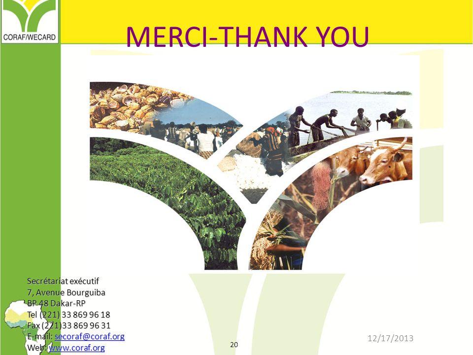 MERCI-THANK YOU Secrétariat exécutif 7, Avenue Bourguiba