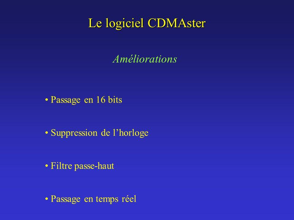Le logiciel CDMAster Améliorations Passage en 16 bits