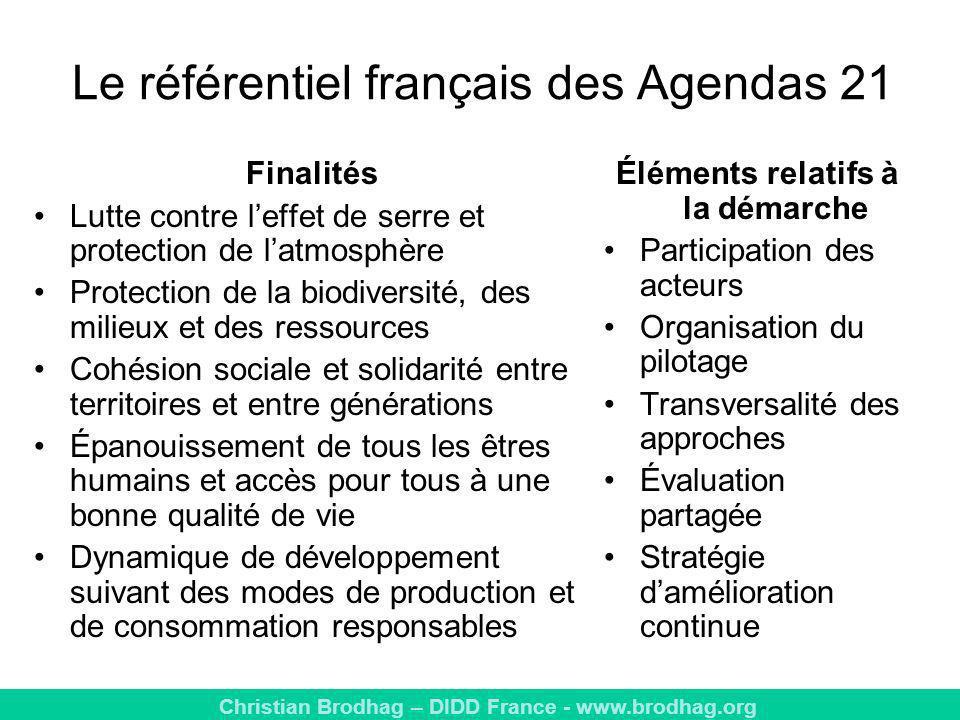 Le référentiel français des Agendas 21