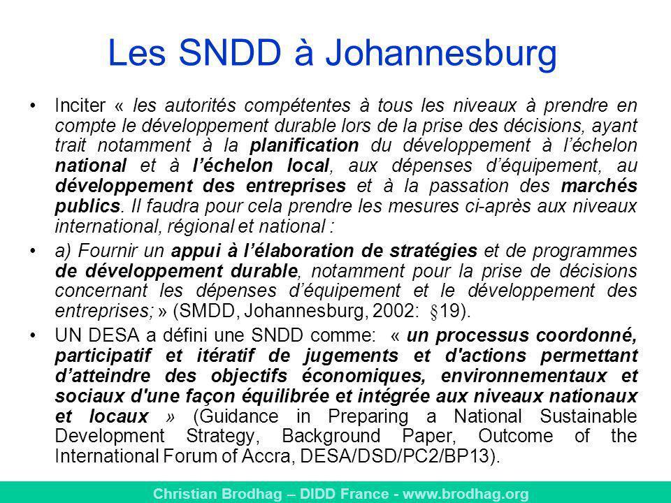 Les SNDD à Johannesburg