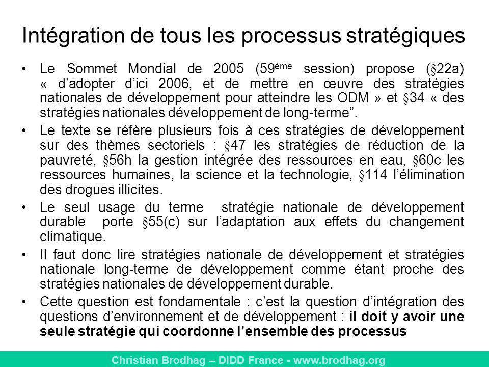 Intégration de tous les processus stratégiques