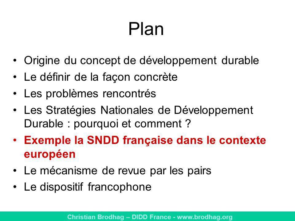 Plan Origine du concept de développement durable