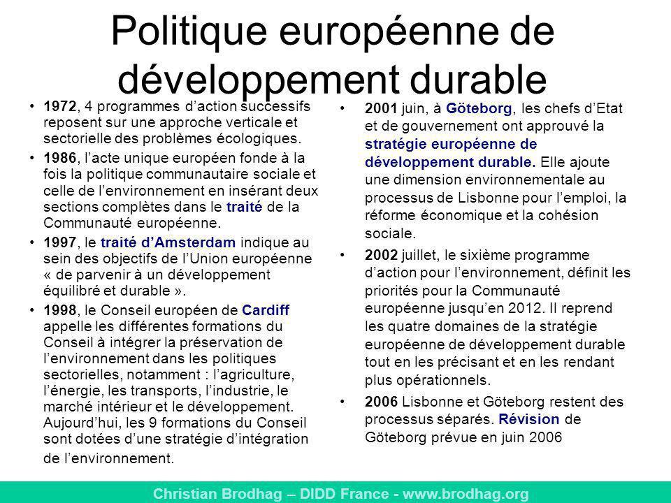Politique européenne de développement durable