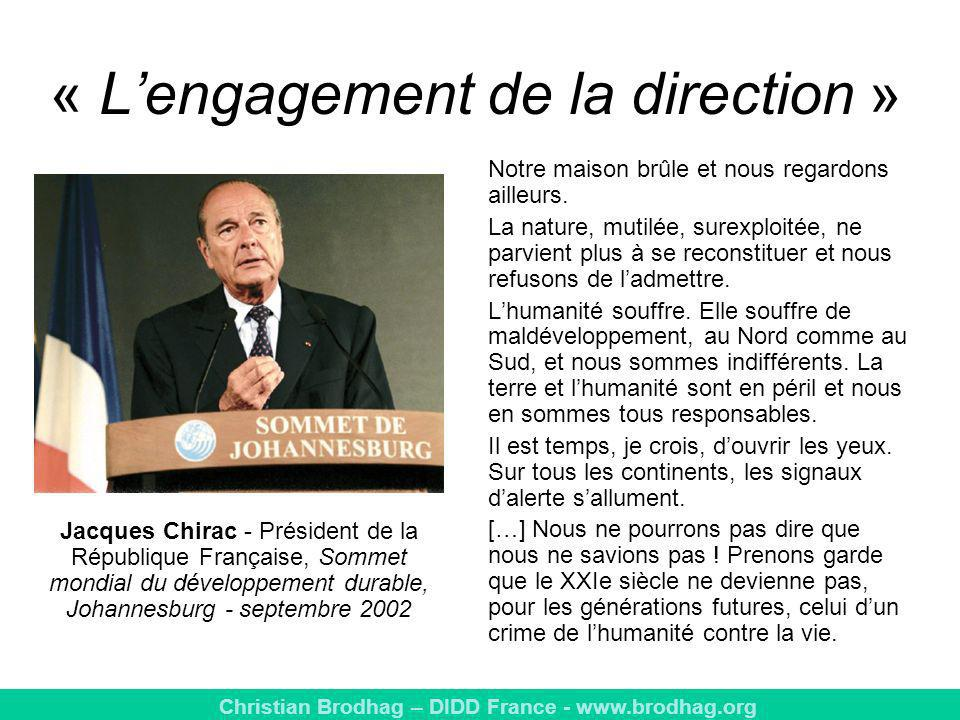 « L'engagement de la direction »