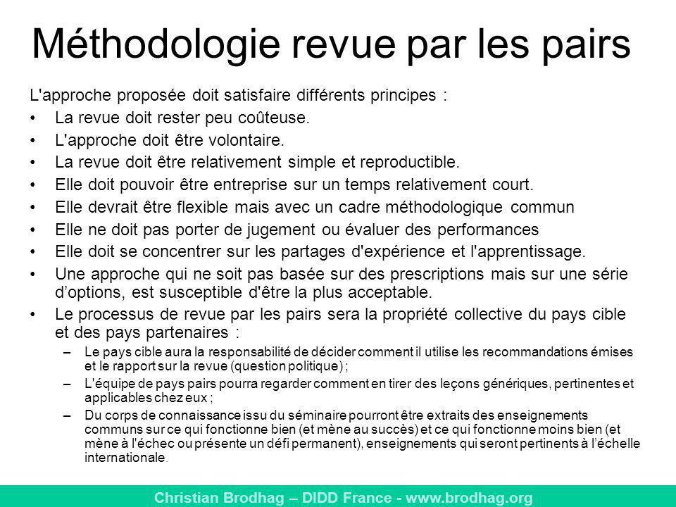 Méthodologie revue par les pairs